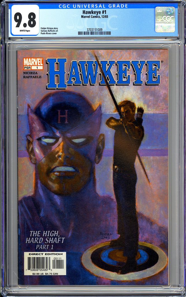 Hawkeye #1 CGC 9.8 White Pages (2003) 3703151009