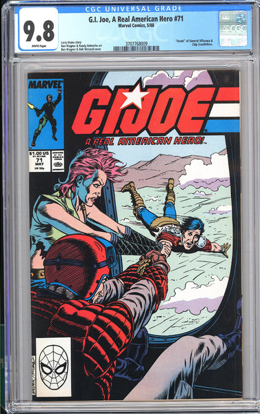 G.I. Joe A Real American Hero #71 CGC 9.8 White Pages 1988 3707768009
