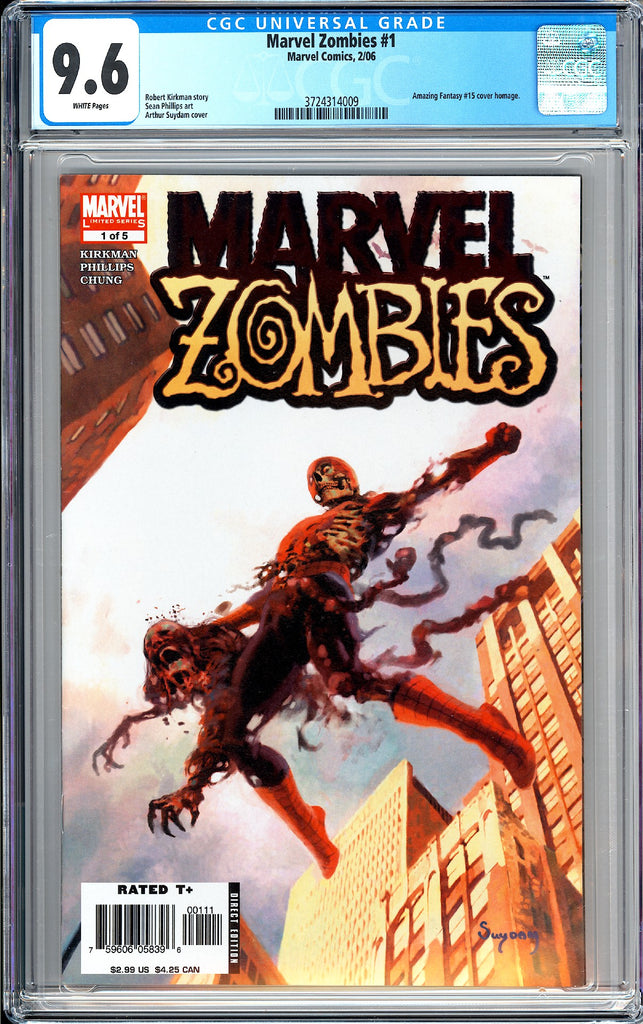 Marvel Zombies #1 CGC 9.6 WP 2006 3724314009 Amazing Fantasy #15 Homage