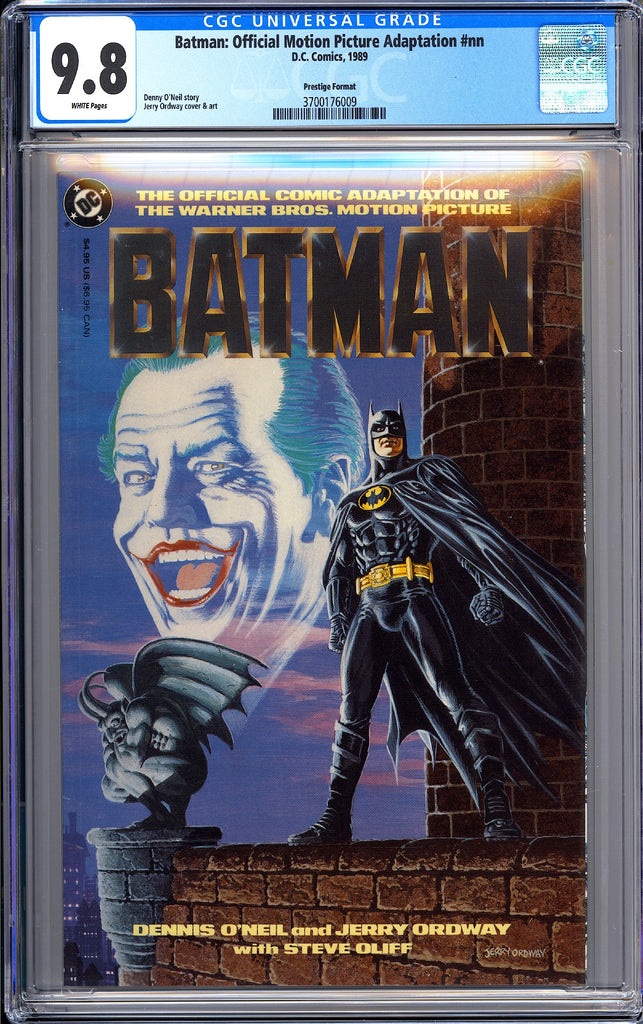 Batman Official Motion Picture Adaptation #nn CGC 9.8 WP 1989 3700176009