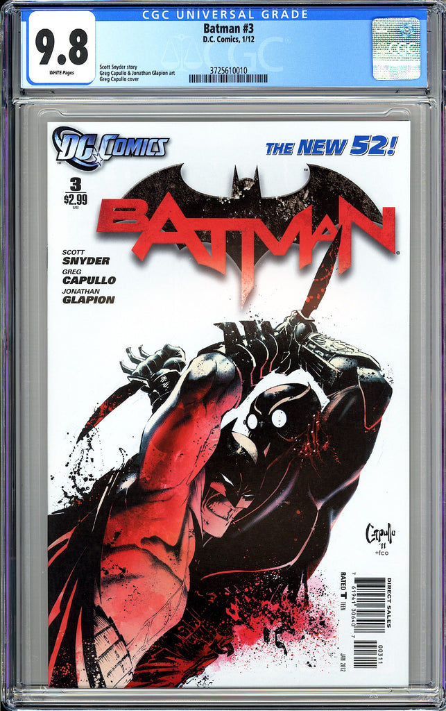 Batman #3 CGC 9.8 White Pages 2012 3725610010 New 52