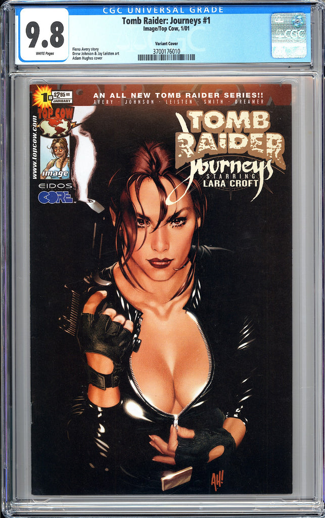 Tomb Raider Journeys #1 CGC 9.8 White Pages 3700176010 Variant Cover