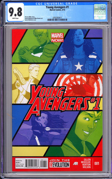 Young Avengers #1 CGC 9.8 White Pages (2013) 3703302011