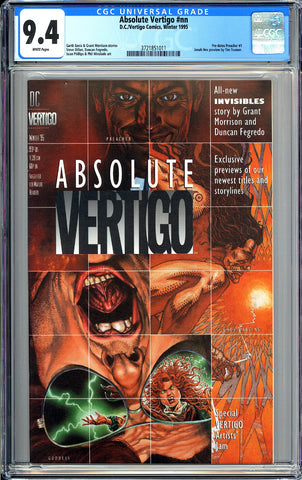Absolute Vertigo #nn CGC 9.4 White Pages 1995 3721851011 Pre-dates Preacher #1