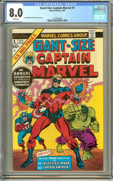 Giant-Size Captain Marvel #1 (1975) CGC 8.0 White Pages 1217781005