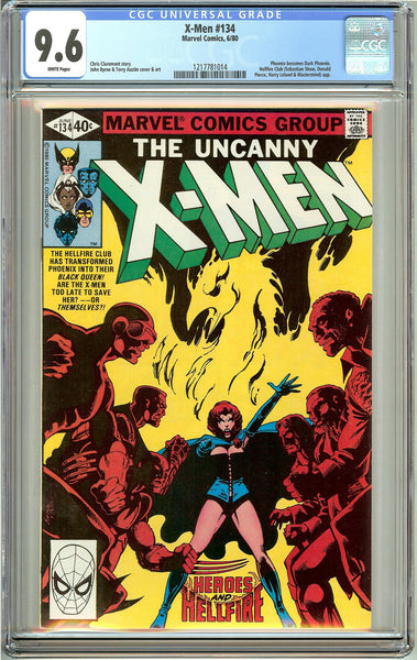 Uncanny X-Men #134 (1980) CGC 9.6 White Pages 1217781014