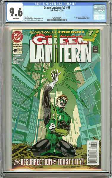 Green Lantern #48 (1994) CGC 9.6 White Pages 1217781021 1st Kyle Rayner