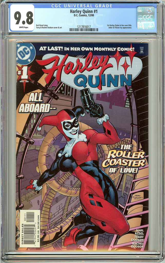Harley Quinn #1 (2000) CGC 9.8 White Pages 1217816017