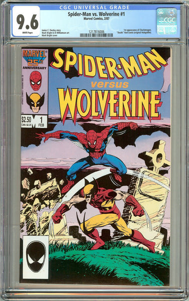 Spider-Man vs. Wolverine #1 (1987) CGC 9.6 White Pages 1217816006