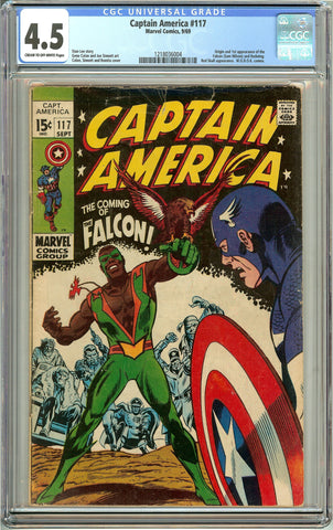 Captain America #117 1969 CGC 4.5 Cream to Off-White Pages 1218036004 1st Falcon