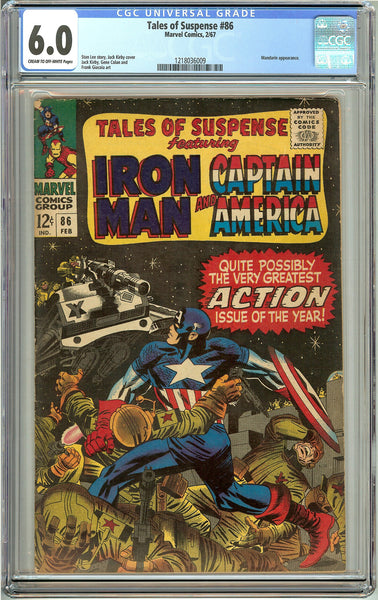 Tales of Suspense #86 (1967) CGC 6.0 Cream to Off-White Pages 1218036009