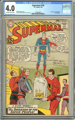 Superman (1963) #158 CGC 4.0 OW to White Pages 1218036016