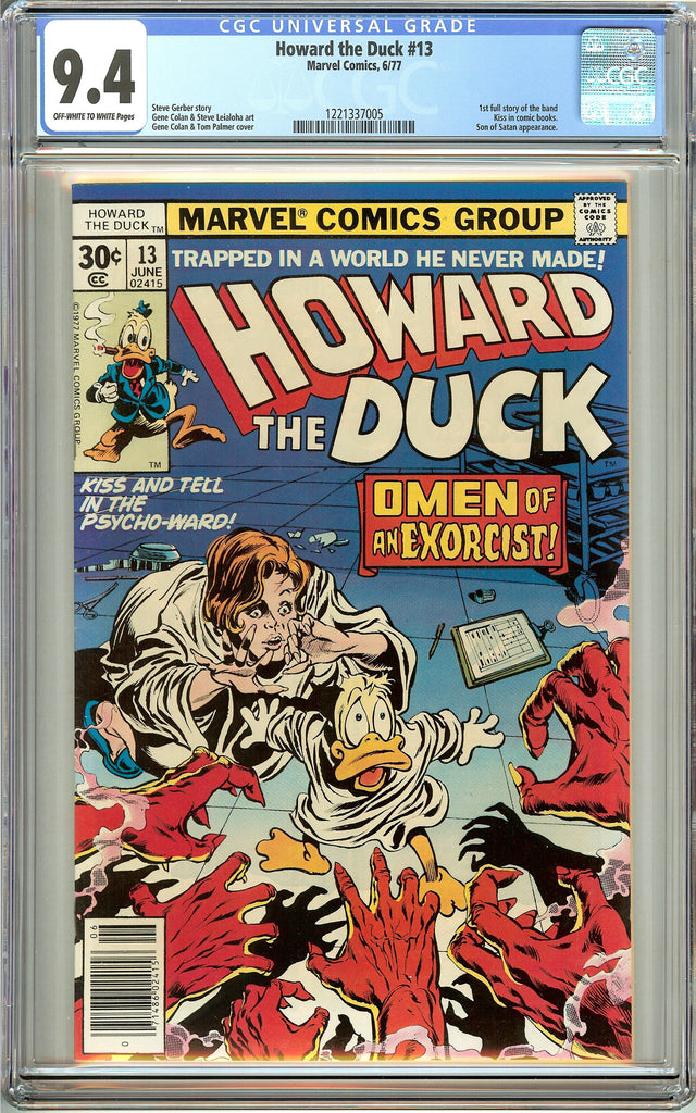 Howard the Duck #13 (1977) CGC 9.4 OW to White Pages 1221337005