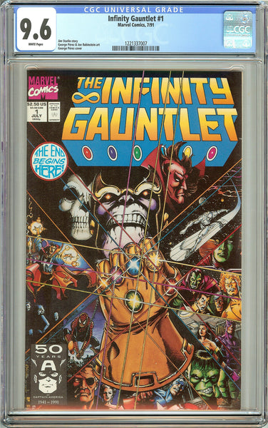 The Infinity Gauntlet #1 (1991) CGC 9.6 White Pages 1221337007