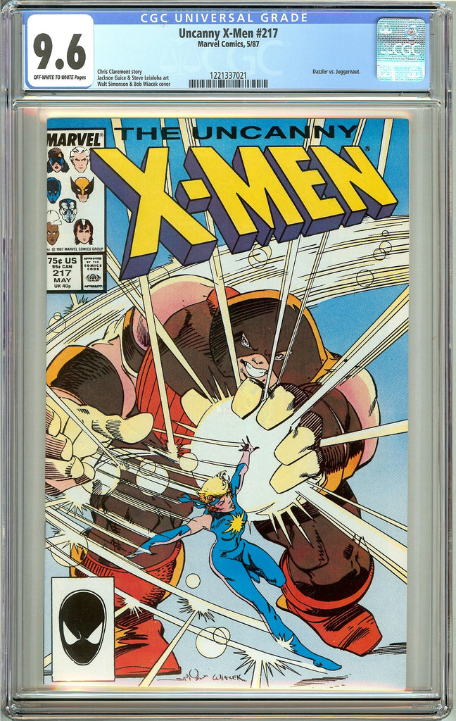 Uncanny X-Men #217 (1987) CGC 9.6 OW to White Pages 1221337021