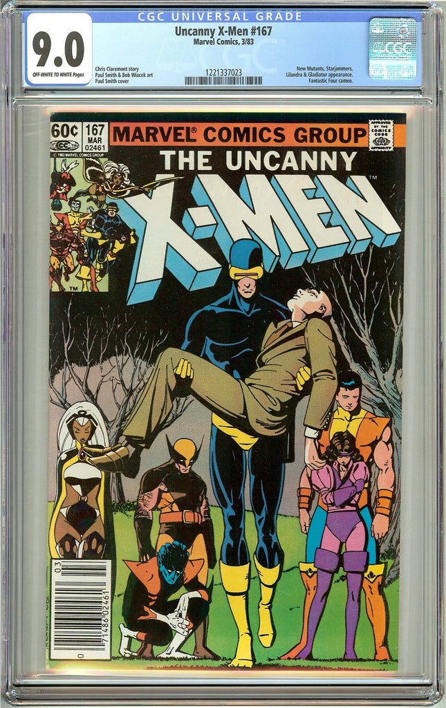 Uncanny X-Men #167 (1983) CGC 9.0 OW to White Pages 1221337023