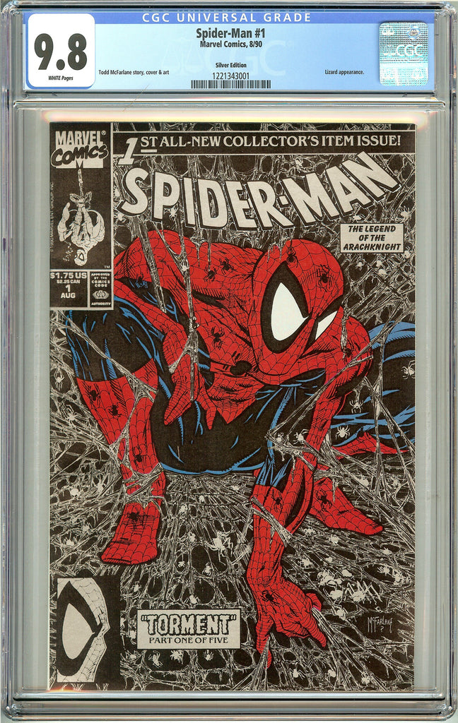 Spider-Man #1 (1990) CGC 9.8 White Pages 1221343001 Silver Edition