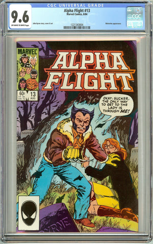Alpha Flight #13 (1984) CGC 9.6 Off-White to White Pages 1221343004