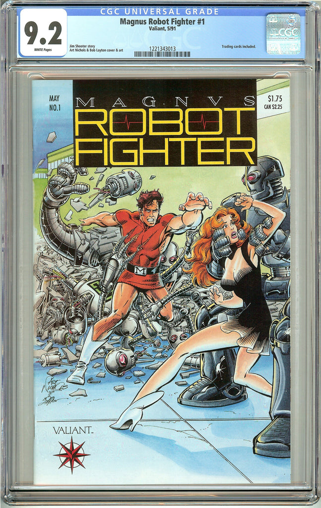 Magnus Robot Fighter #1 (1991) CGC 9.2 White Pages 1221343013