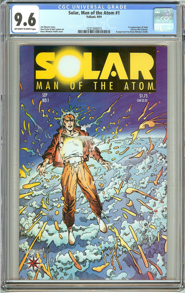 Solar Man of the Atom #1 (1991) CGC 9.6 OW to White Pages 1221343015