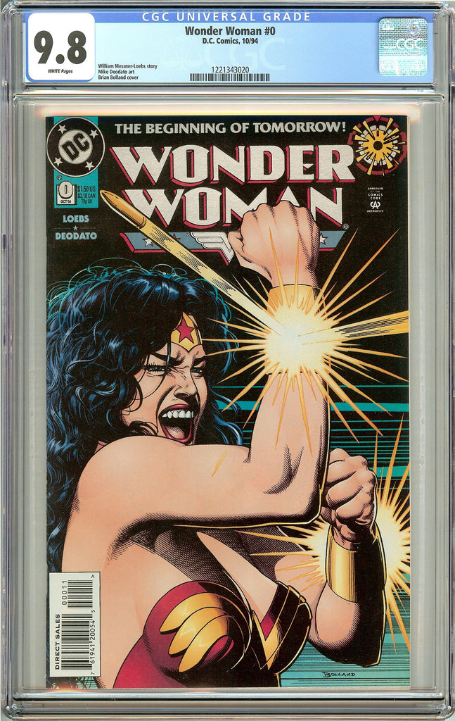 Wonder Woman #0 (1994) CGC 9.8 White Pages 1221343020