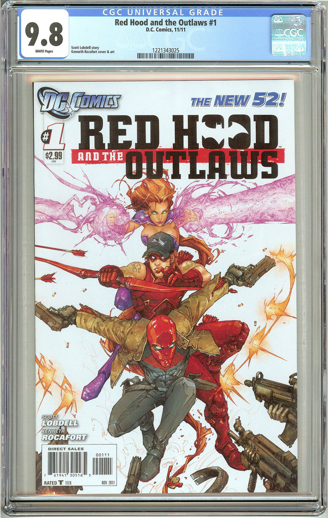 Red Hood & the Outlaws #1 (2011) CGC 9.8 White Pages 1221343025