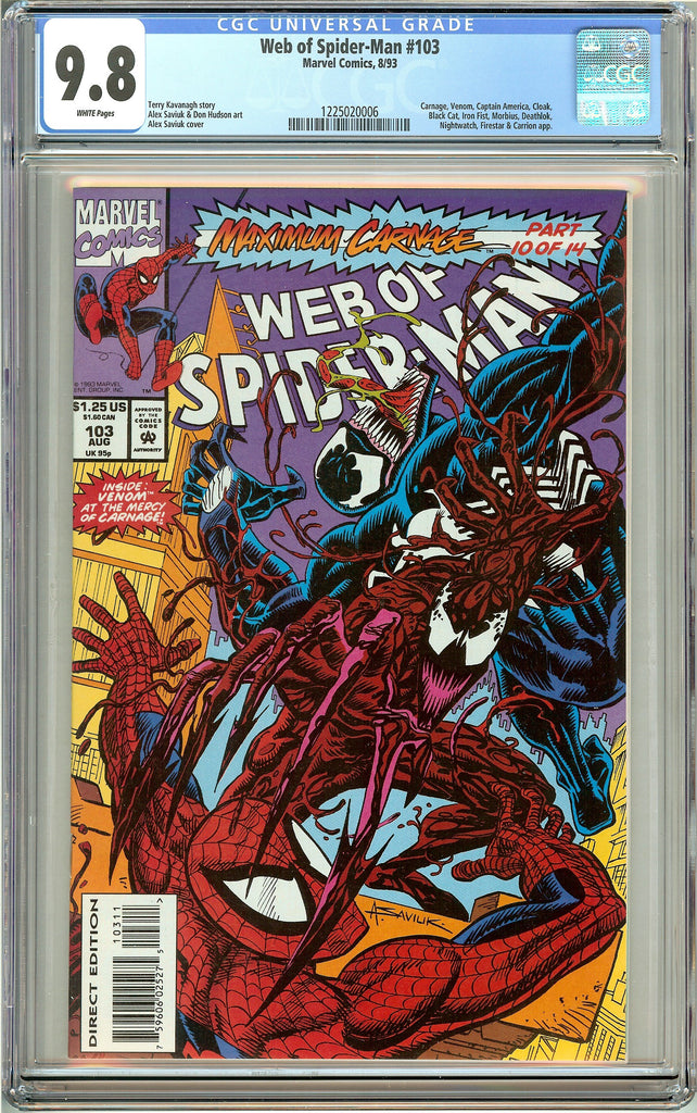 Web of Spider-Man #103 (1993) CGC 9.8 White Pages 1225020006