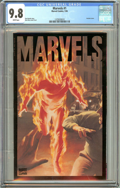 Marvels #1 (1994) CGC 9.8 White Pages 1225020010