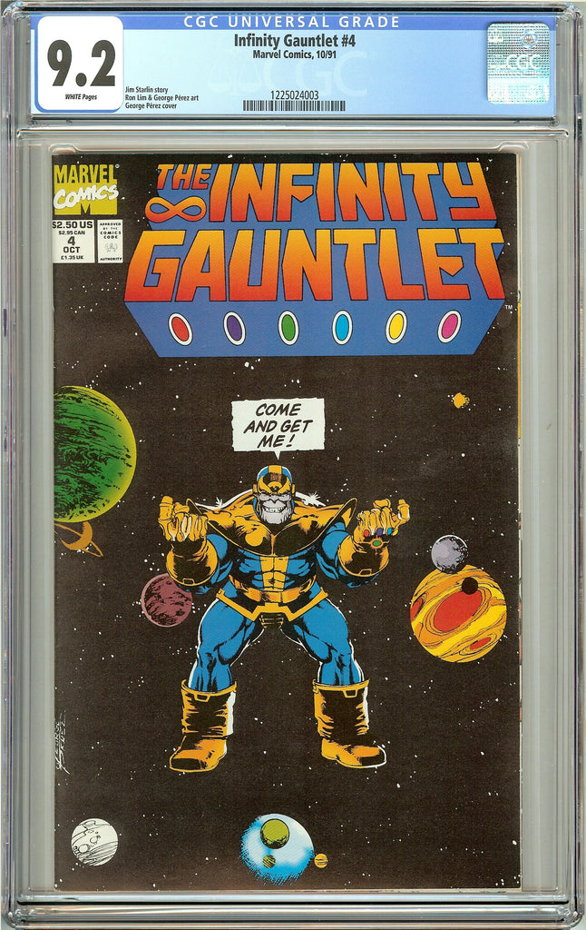 The Infinity Gauntlet #4 (1991) CGC 9.2 White Pages 1225024003
