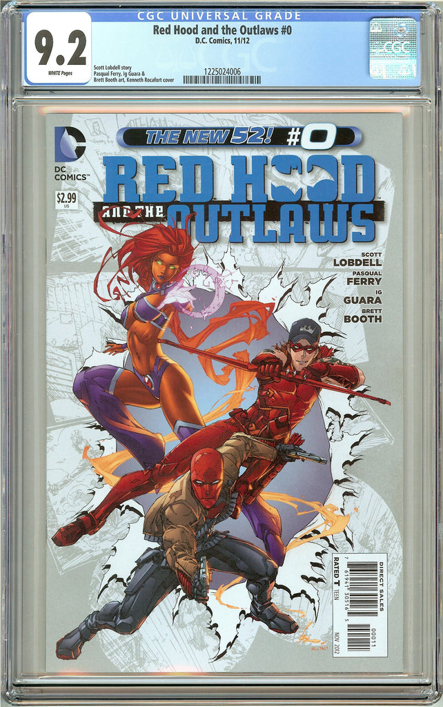 Red Hood & the Outlaws #0 (2012) CGC 9.2 White Pages 1225024006