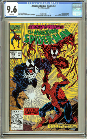 Amazing Spider-Man #362 (1992) CGC 9.6 White Pages 1225024017