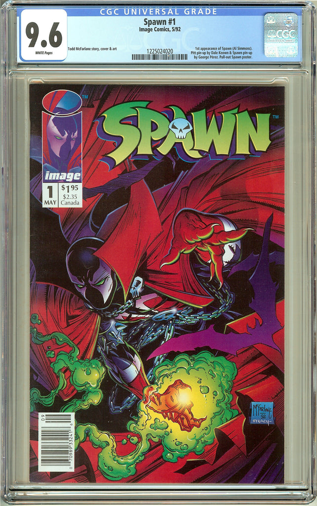 Spawn #1 (1992) CGC 9.6 White Pages 1225024020