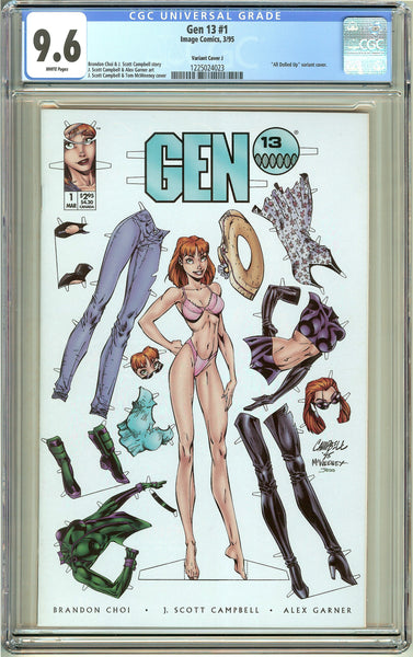Gen 13 #1 Variant Cover J (1995) CGC 9.6 White Pages 1225024023