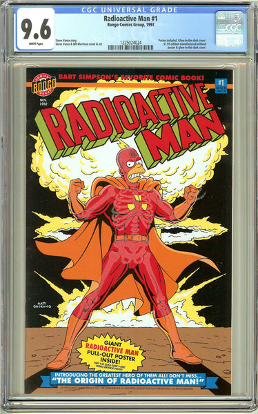 Radioactive Man #1 (1993) CGC 9.6 White Pages 1225024024