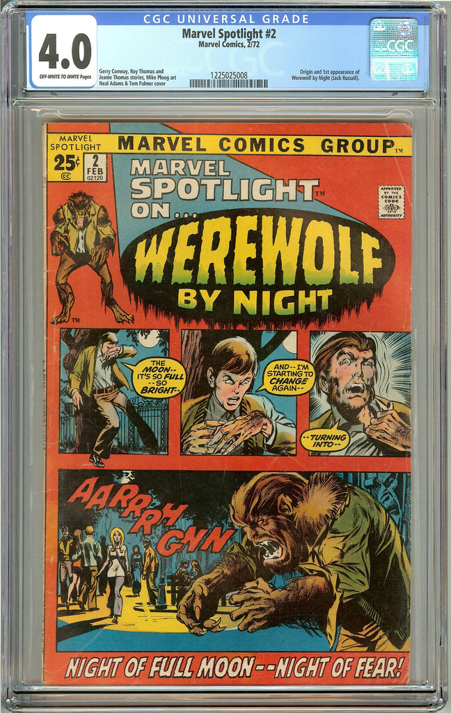 Marvel Spotlight #2 (1972) CGC 4.0 OW to White Pages 1225025008 Warewolf