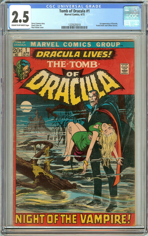 Tomb of Dracula #1 (1972) CGC 2.5 CTO-White Pages 1225025010 Dracula