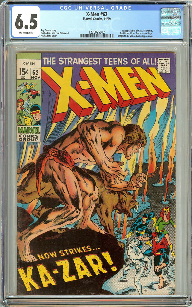 X-Men #62 (1969) CGC 6.5 Off-White Pages 1225025012