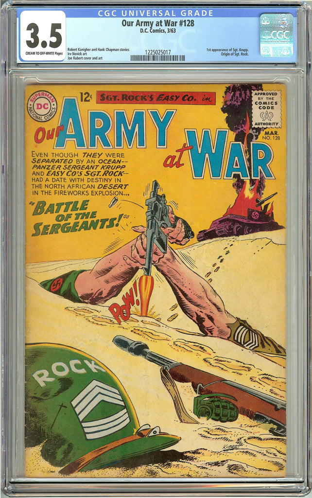 Our Army at War #128 (1963) CGC 3.5 CTO-White Pages 1225025017
