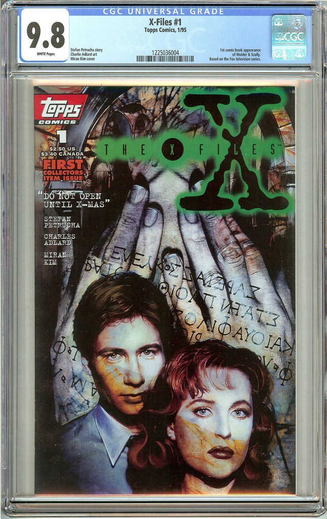 X-Files #1 Topps Comics (1995) CGC 9.8 White Pages 1225036004