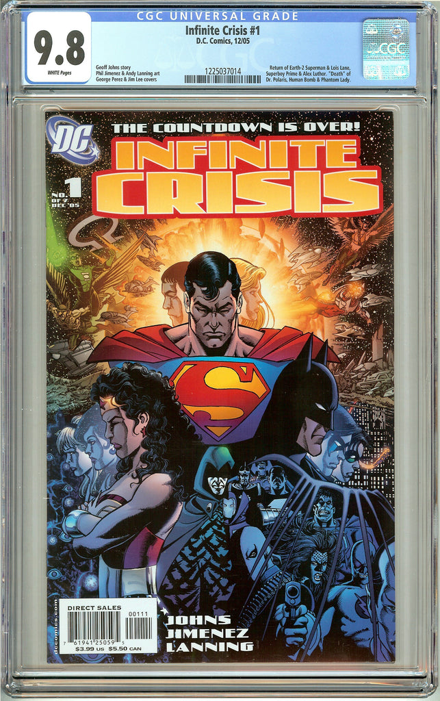 Infinity Crisis #1 (2005) CGC 9.8 White Pages 1225037014