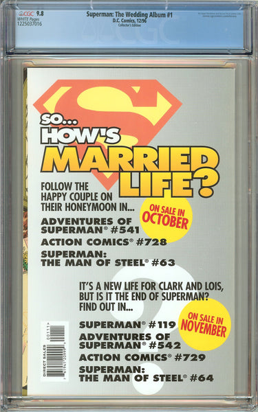 Superman: The Wedding Album #1 (1996) CGC 9.8 White Pages 1225037016