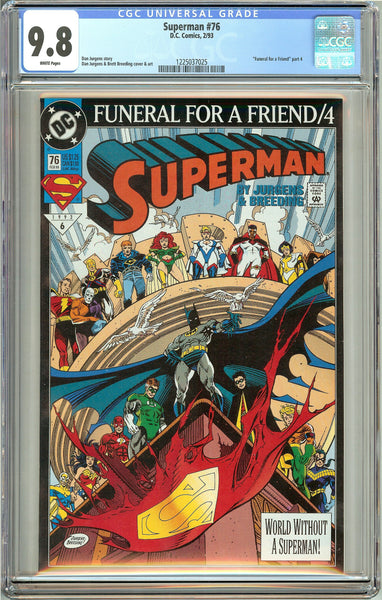 Superman #76 (1993) CGC 9.8 White Pages 1225037025
