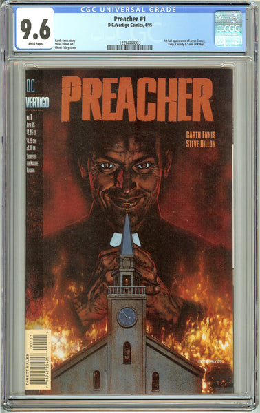 Preacher #1 (1995) CGC 9.6 White Pages 1226888003