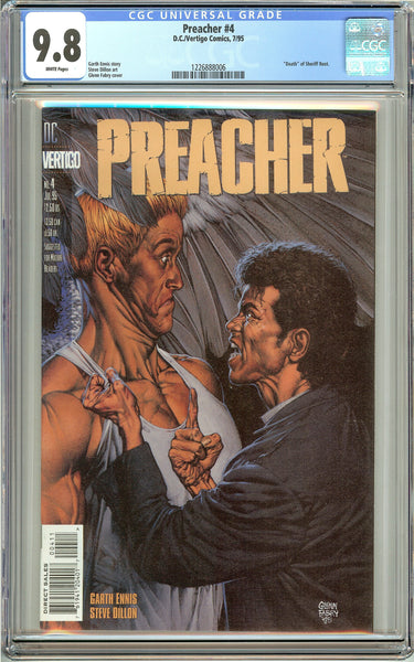 Preacher #4 (1995) CGC 9.8 White Pages 1226888006
