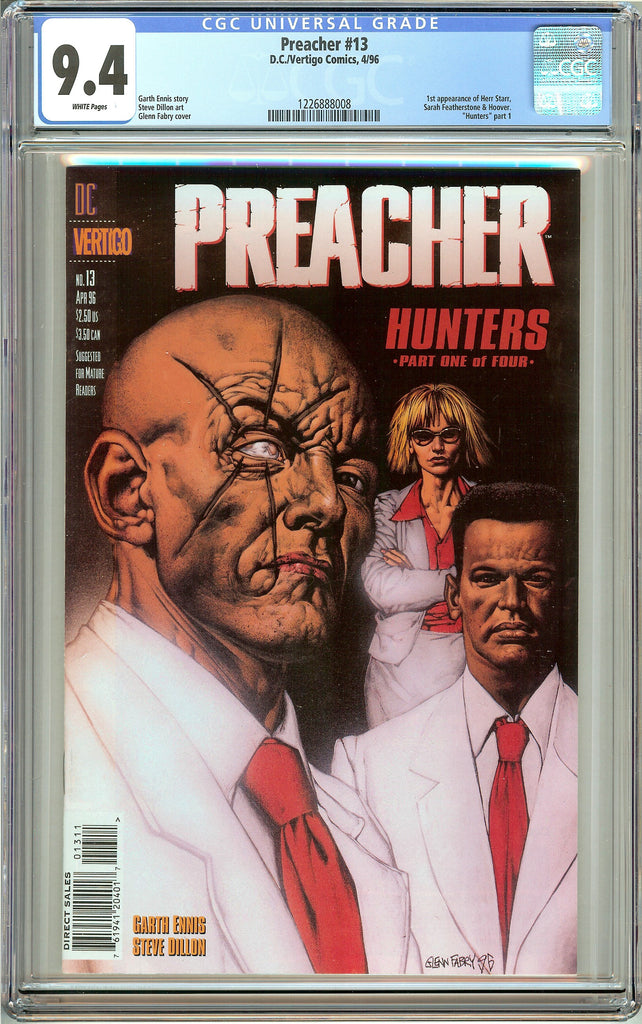Preacher #13 (1996) CGC 9.4 White Pages 1226888008