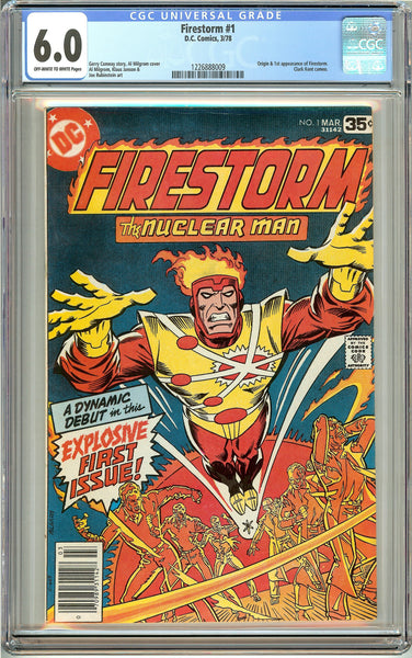 Firestorm #1 (1978) CGC 6.0 OW to White Pages 1226888009
