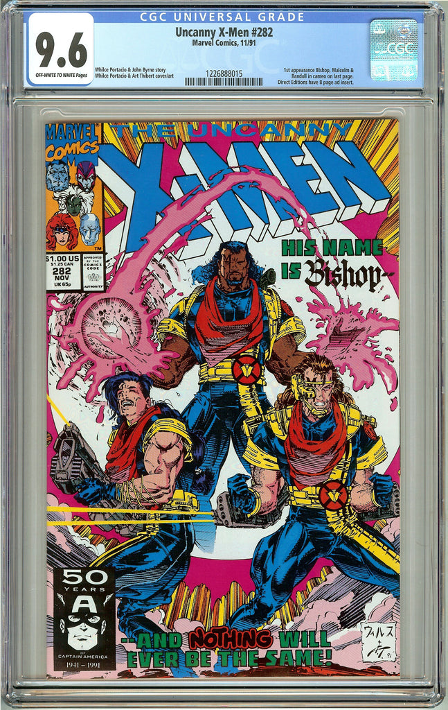 The Uncanny X-Men #282 (1991) CGC 9.6 OW to White Pages 1226888015