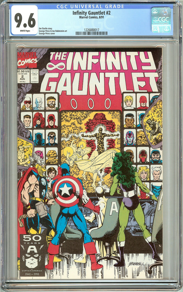 The Infinity Gauntlet #2 (1991) CGC 9.6 White Pages 1226888017