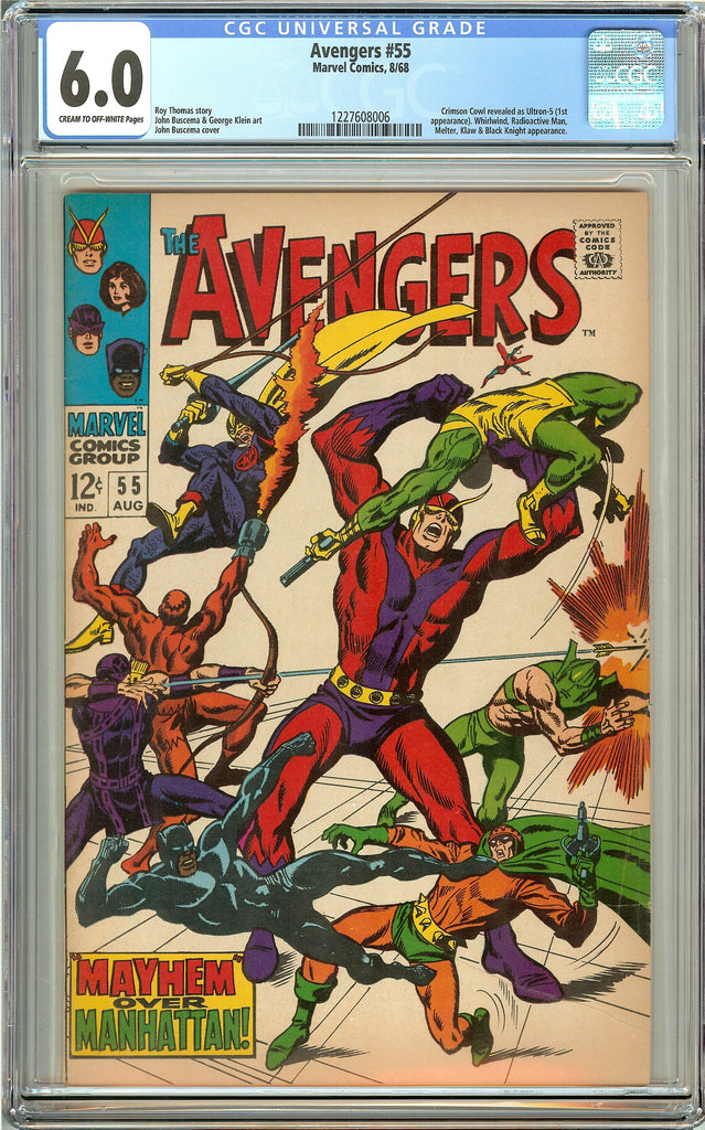 Avengers #55 (1968) CGC 6.0 CT Off-White Pages 1227608006
