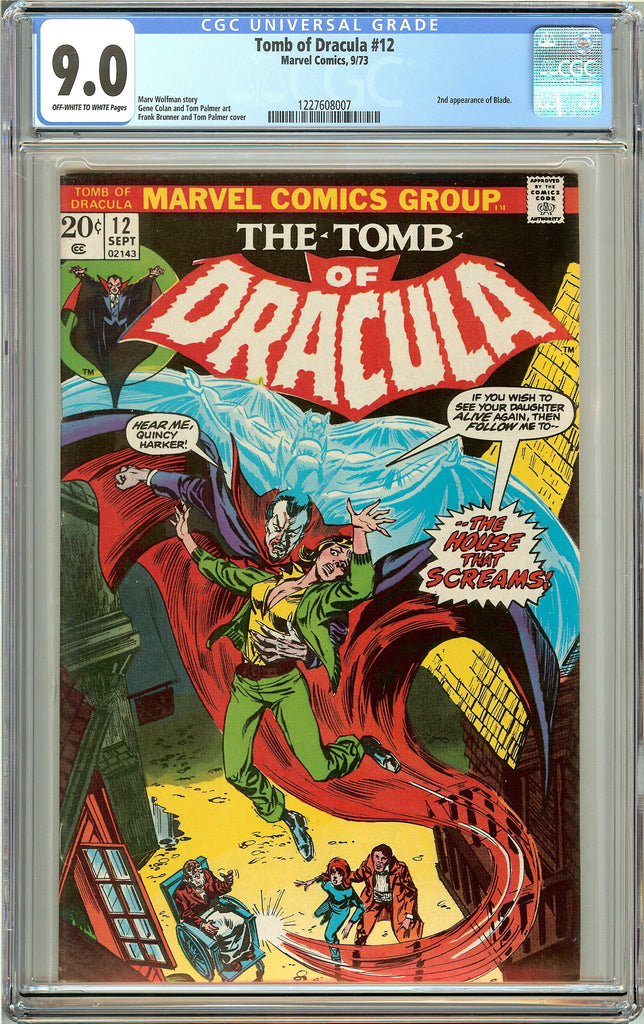 Tomb of Dracula #12 (1973) CGC 9.0 OW to White Pages 1227608007